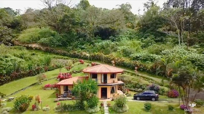 2 story villa on private estate nature preserve with Lake Arenal view & access.