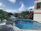 Saltwater pool with beautiful views of Fish Bay
