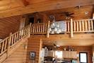 Beautiful log staircase to loft