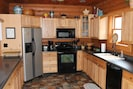 Fully equipped kitchen with all you need for your gathering