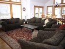 Great Room with HDTV and spacious seating.