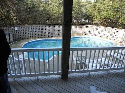 Private Pool with convenient access off back covered porch