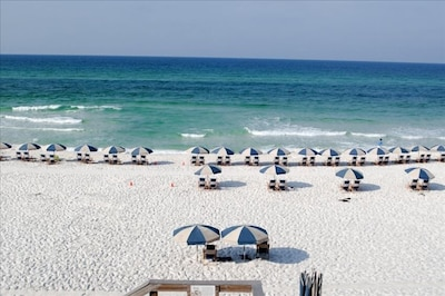 View from the balcony - pristine beach one of the World's 10 Best!