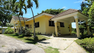 ENTRANCE OF VILLA, BEHIND THE NEW BUNGALOW