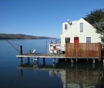 Perched Directly Over Tomales Bay in Western Marin, Point Reyes