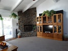 other side of living room gas fireplace flat panel tv