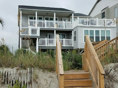 View of the Muth Beach House from the ocean