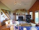 Living Room - enjoying a roaring wood burning fire