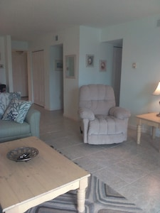 Newly redecorated living room.