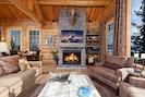 Wood burning fireplace, 60' LED smart TV, AV system, aux HDMI, hi-speed WIFI
