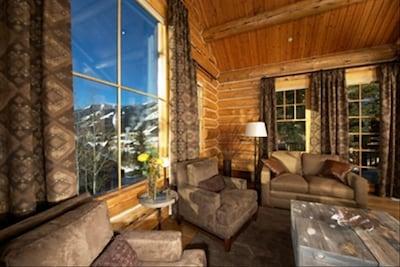 Stunning views Teton Village Center, Jackson Resort ski mountain, aerial tram