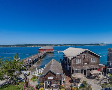 Iconic Coupeville Wharf just steps away...
