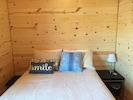 Queen size cozy/comfortable bed!