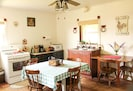 Quaint kitchen with all the necessities and no fluff.