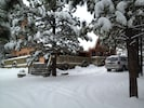 WINTER view of house from our driveway.