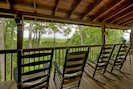 Go ahead and try not to relax in these rocking chairs- we dare you!