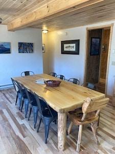NEW kitchen table seats ten.