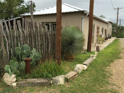 100 year old traditional ranch style West Texas adobe near the heart of Marathon