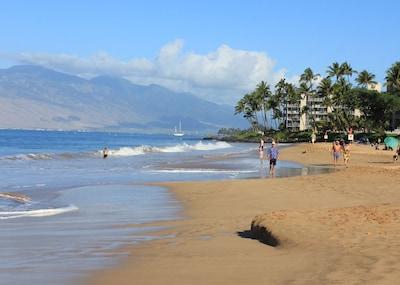 Beautiful Sandy Kamaole II Beach Across the Street.  Swim, Sunbathe, Snorkel.