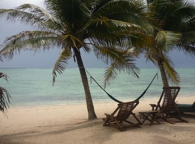 The peaceful beauty of our beach outside of our Cabana in Tankah Tres, Tulum