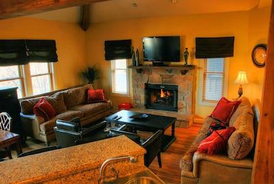 Open living, dining & kitchen - main floor