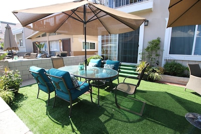 Private patio exclusive to this ground floor  beach house