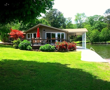Many lakeside decks and patios, as well as a spacious landscaped lawn to enjoy!