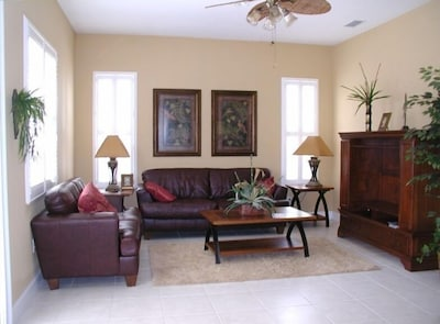 living room off kitchen.  Features 42 inch Sony LCD with PS3