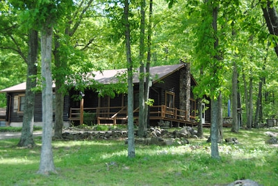 View of the front of the large cabin.