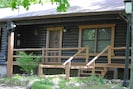 Front porch of the cabin.
