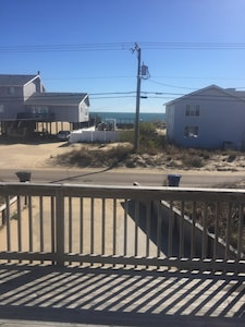 View of Ocean from old front  front deck. View is still the same, deck is new!