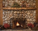 Winter fire in the Lodge