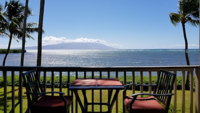 Beautiful view of Maui across the channel!  :)