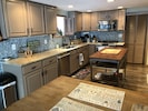 Brand new kitchen is on the walkout floor, perfect for lake days.