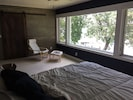 Large upstairs master bedroom with spectacular lake view.