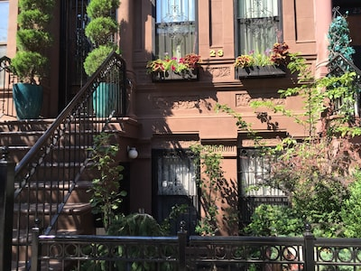Outside view of our classic brownstone building.