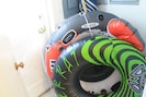 tubes and 12v air pump for tubing river