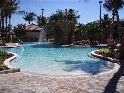 The beautiful Main Pool and Waterfall
