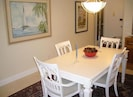 Dining Room - shown with 4 chairs, but expands to seat 6