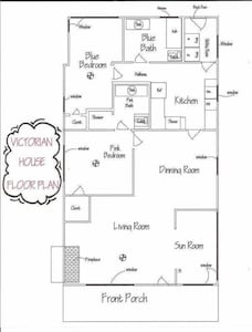 Layout is split which means the bedrooms are seperated by the kitchen & hall.