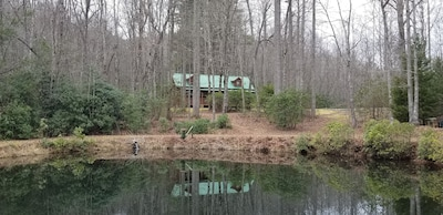 Cabin and Trout Pond