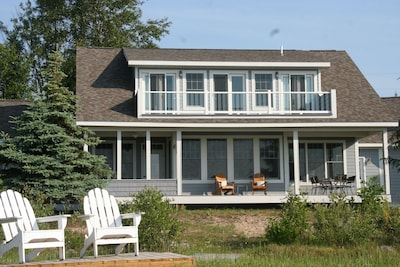Enjoy the view from multiple decks and adirondacks