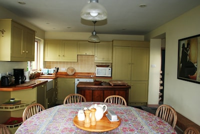 Kitchen, dining room.  Seats 8.