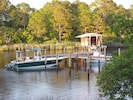 View of the dock from the back porch