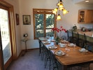 Dining area. Seat up to 12 for a festive meal.