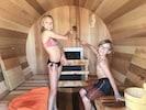 Sauna is kid friendly