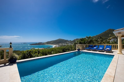 Newly refinished Pool Deck with a Wonderful View of the Mountains and Guana Bay