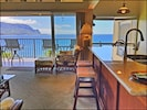 Views of the Pacific and Bali Ha from the living room, kitchen, and dining area.