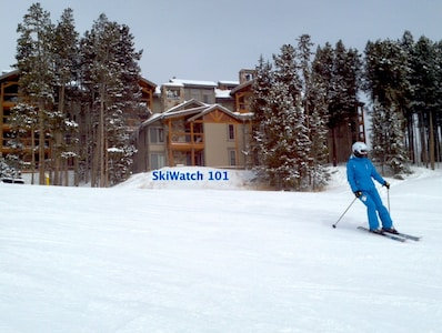 Your dream vacation awaits! Our TRUE ski-in/out access condo, as seen from slope