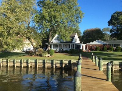 Beautiful view of house from the dock